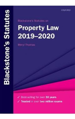 Blackstone's Statutes on Property Law 2019-2020