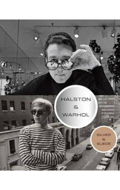 HALSTON & WARHOL : SILVER & SUEDE