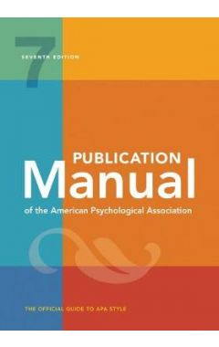 Publication Manual of the American Psychological Association, 7E