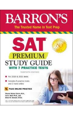 SAT Premium Study Guide with 7 Practice Tests 30e