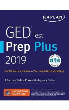 GED Test Prep Plus 2019: 2 Practice Tests + Proven Strategies + Online