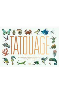 Tatouage: 108 Temporary Tattoos of Wild Animals and 21 Art Print